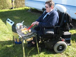 Camping med rullstol inget hinder
